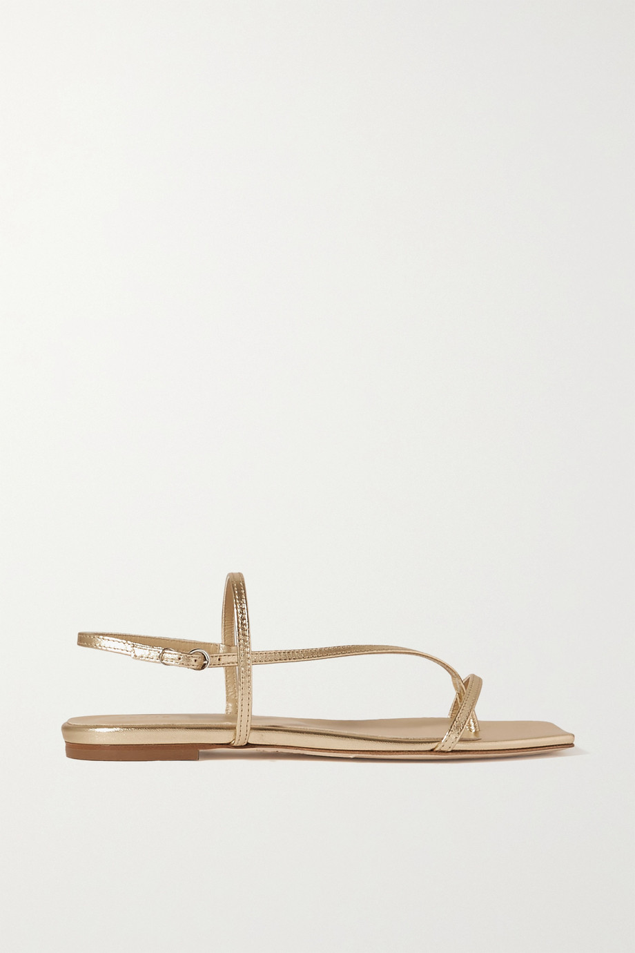 aeyde Ella metallic leather slingback sandals