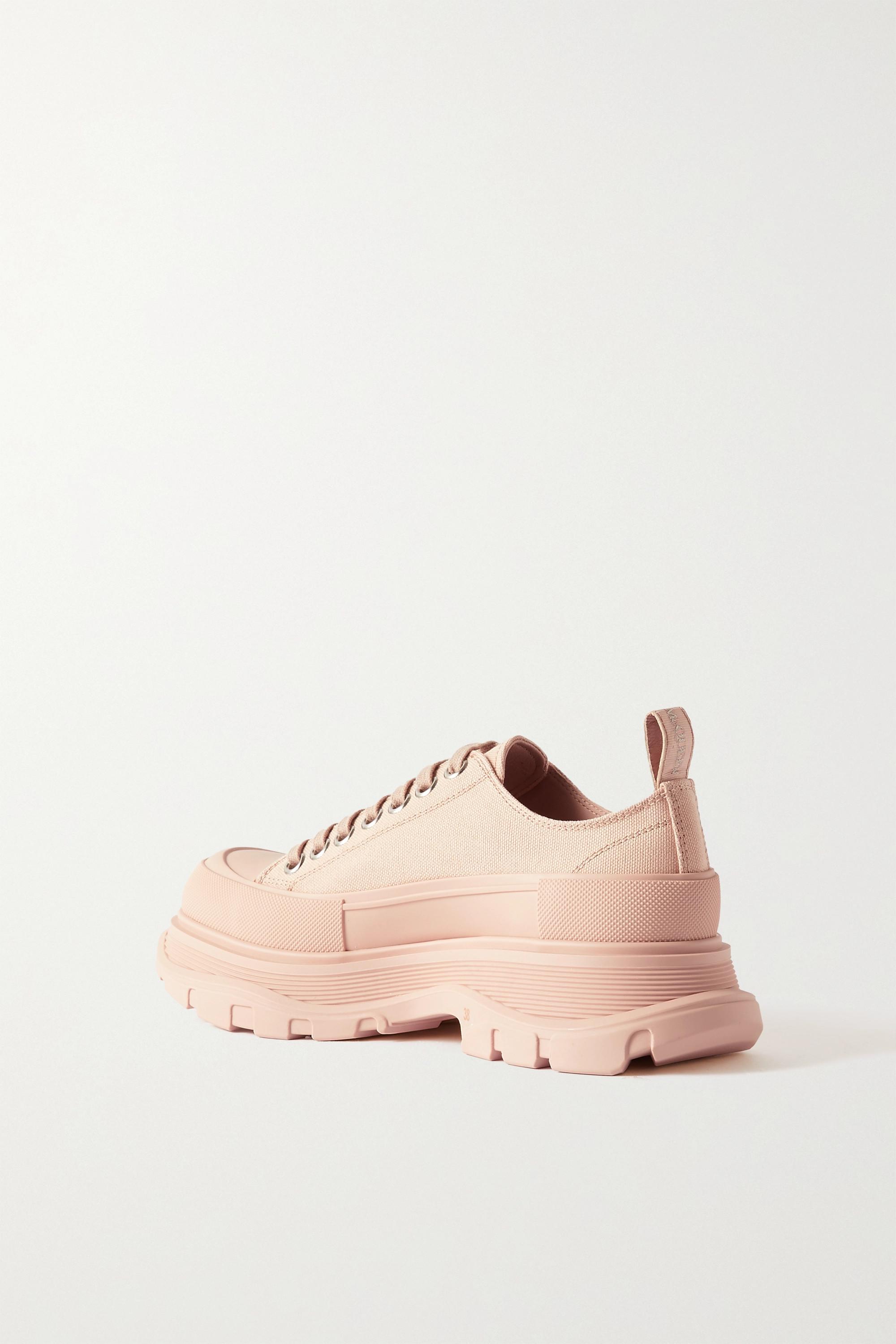 Alexander McQueen Sneakers aus Canvas mit Plateau
