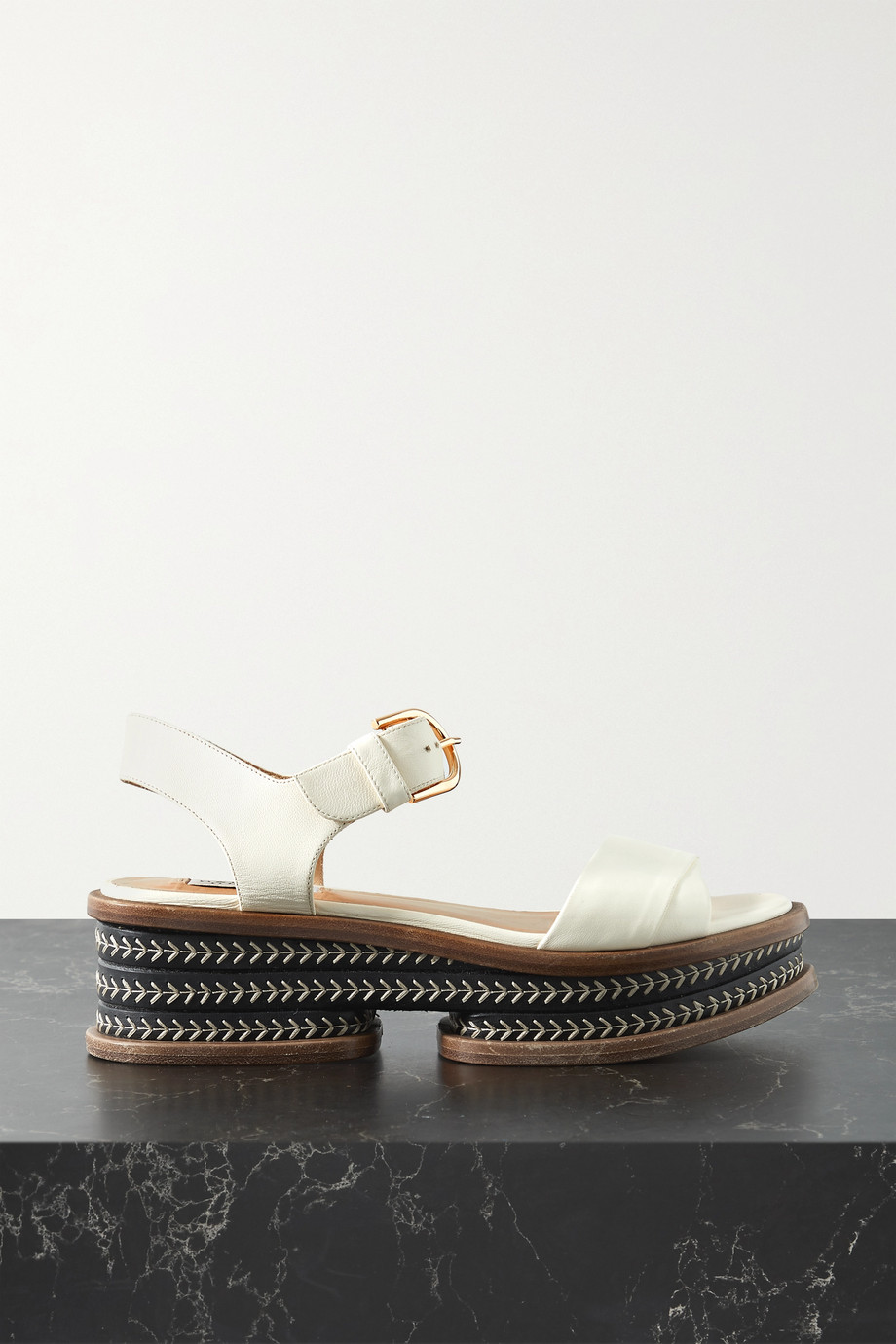 Gabriela Hearst Sandales plates-formes en cuir Mika