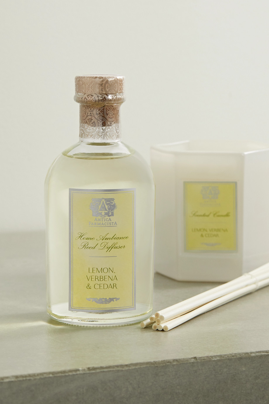 Antica Farmacista Lemon, Verbena & Cedar reed diffuser, 250ml
