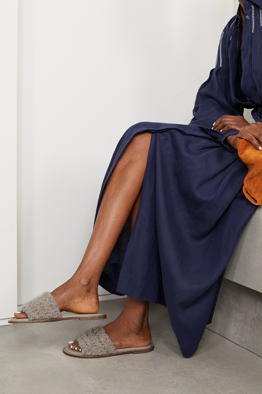 Gabriela Hearst Ballast cashmere slides