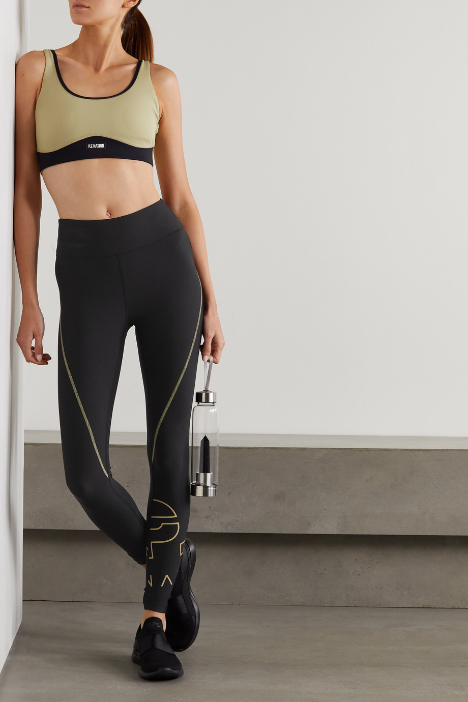 P.E NATION Point Race printed stretch leggings