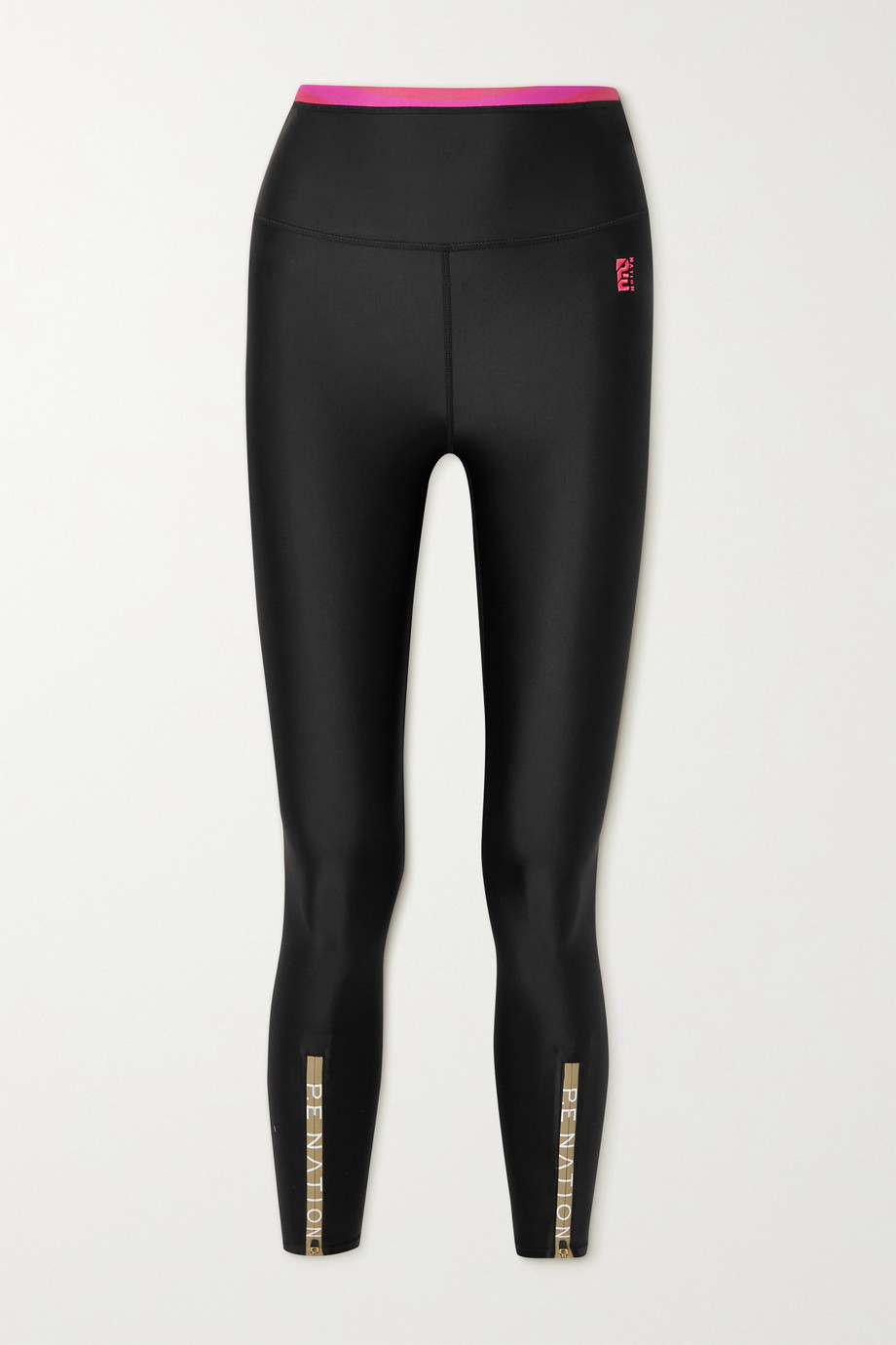 P.E NATION Steady Run zip-detailed recycled stretch leggings