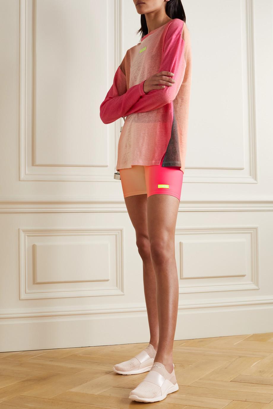 P.E NATION Momentum Shorts aus recyceltem Stretch-Material mit Farbverlauf