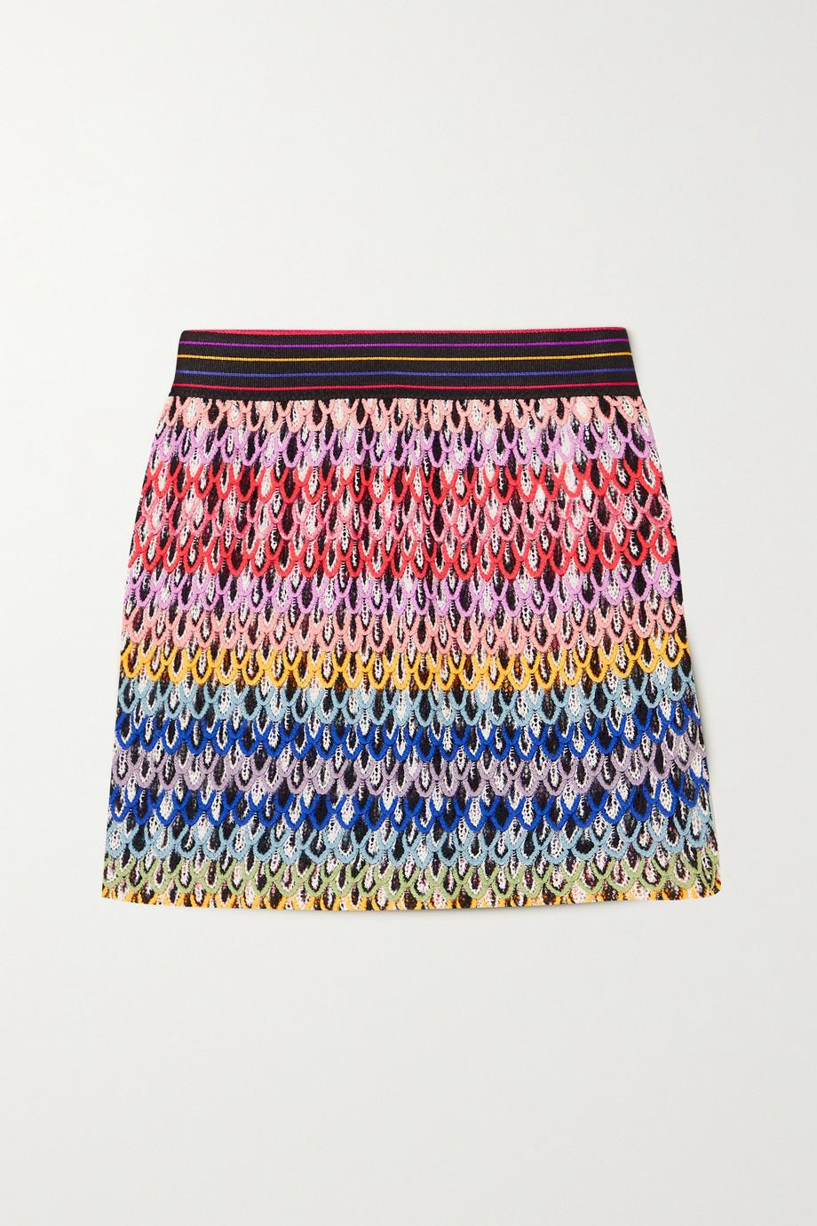 Missoni Mini-jupe en mailles crochetées Mare