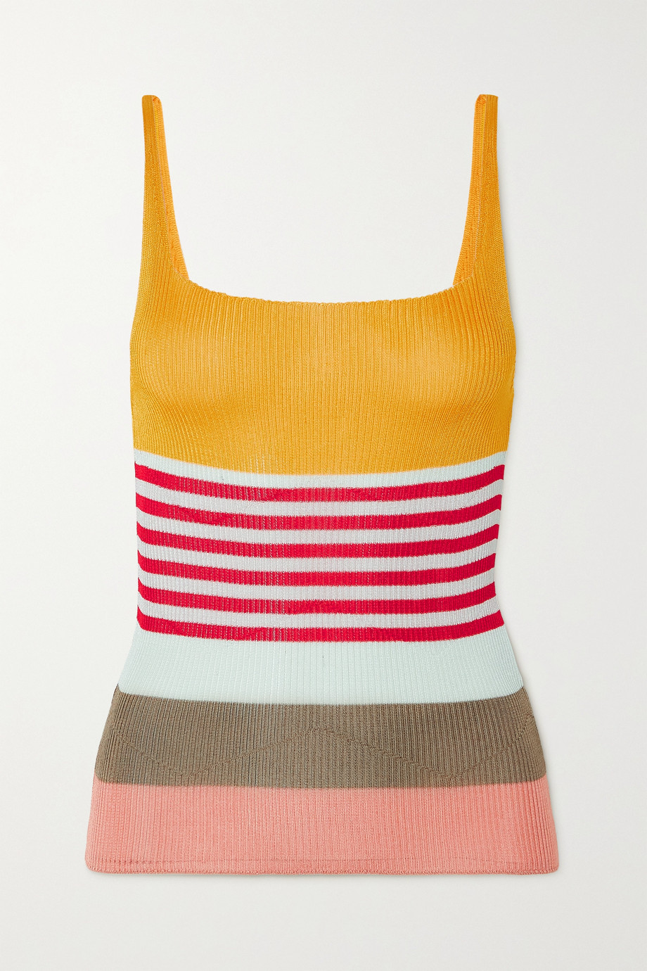 Missoni Striped ribbed-knit tank
