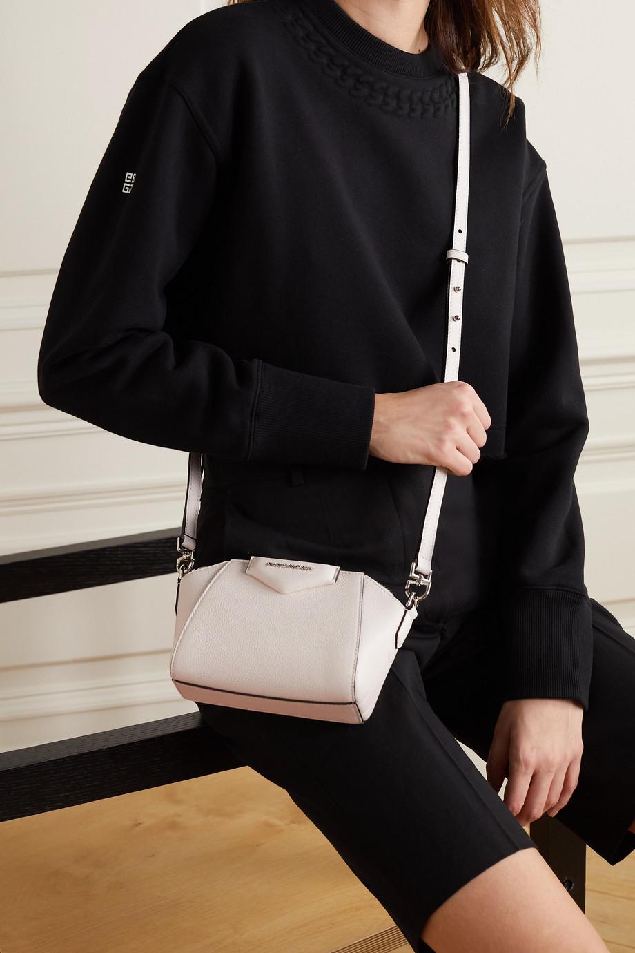 Givenchy Sac porté épaule en cuir texturé Antigona Nano