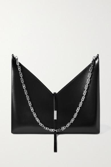 Givenchy Cut Out Large Leather Shoulder Bag In Black