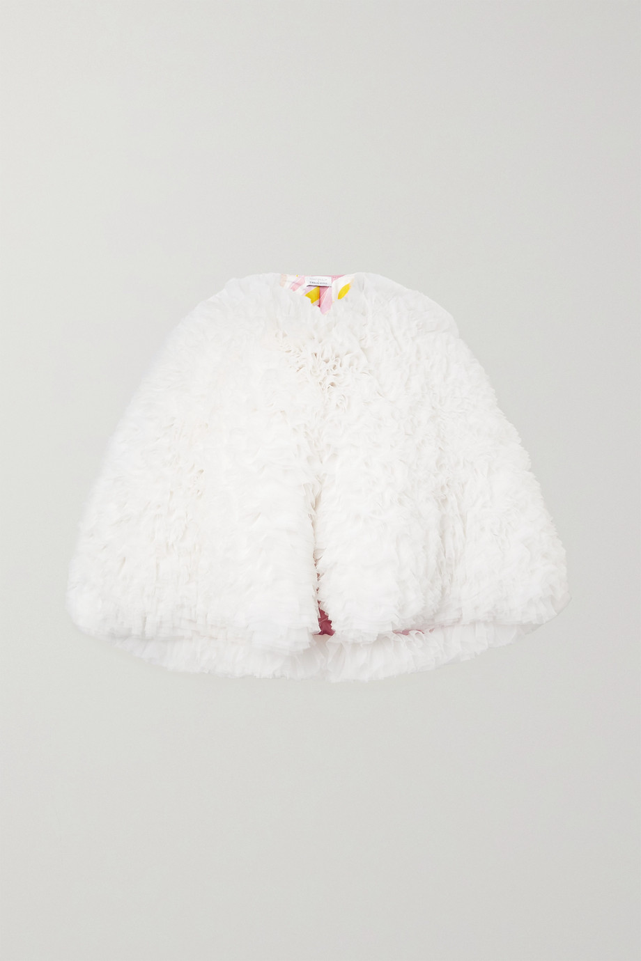 Tomo Koizumi X Emilio Pucci Ruffled tulle cape