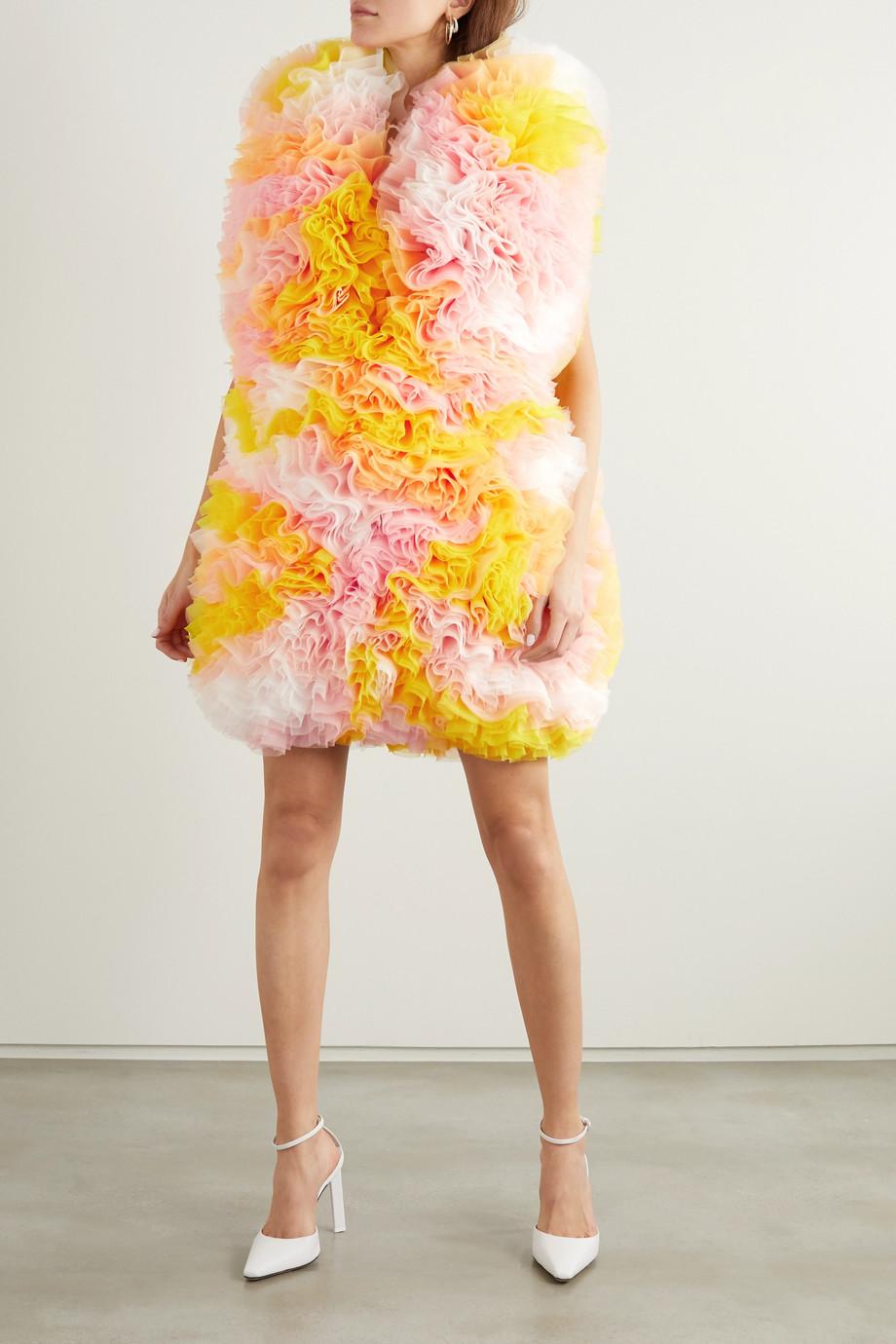 Tomo Koizumi X Emilio Pucci Ruffled tulle mini dress
