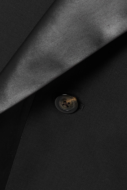 Rick Owens Buckled satin-trimmed wool-blend jacket