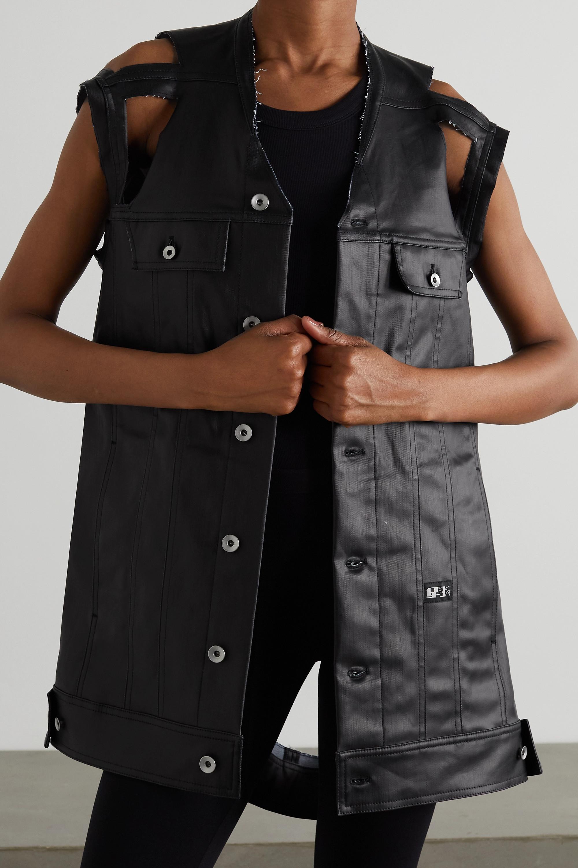 Rick Owens Cutout coated-denim vest