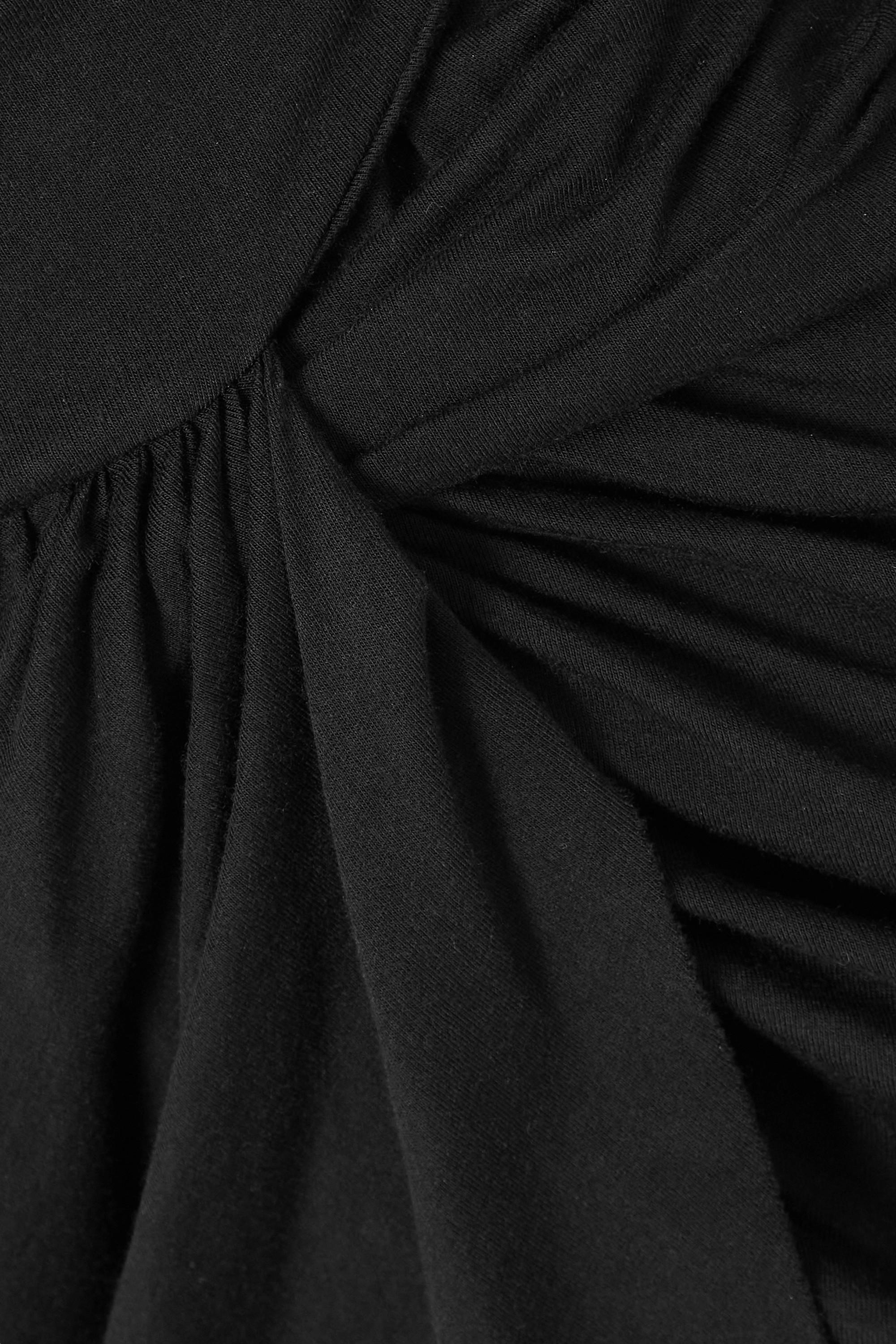 Rick Owens Wrap-effect jersey top