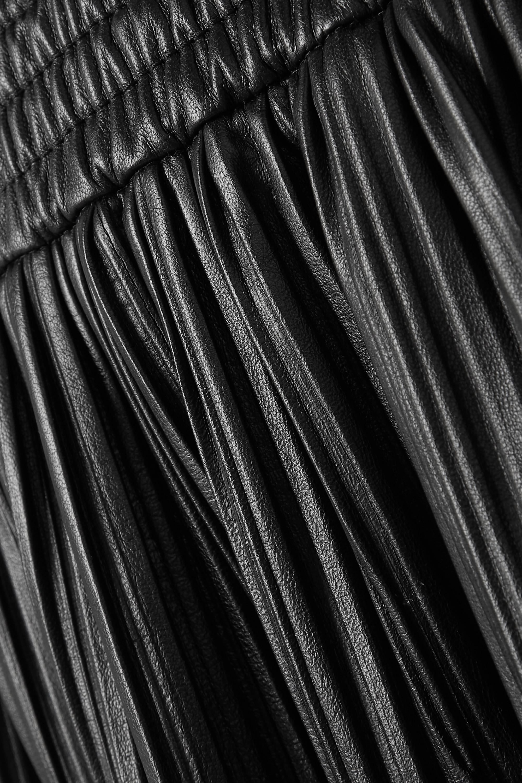 Gabriela Hearst Jupe midi en cuir plissé Dakota - NET SUSTAIN