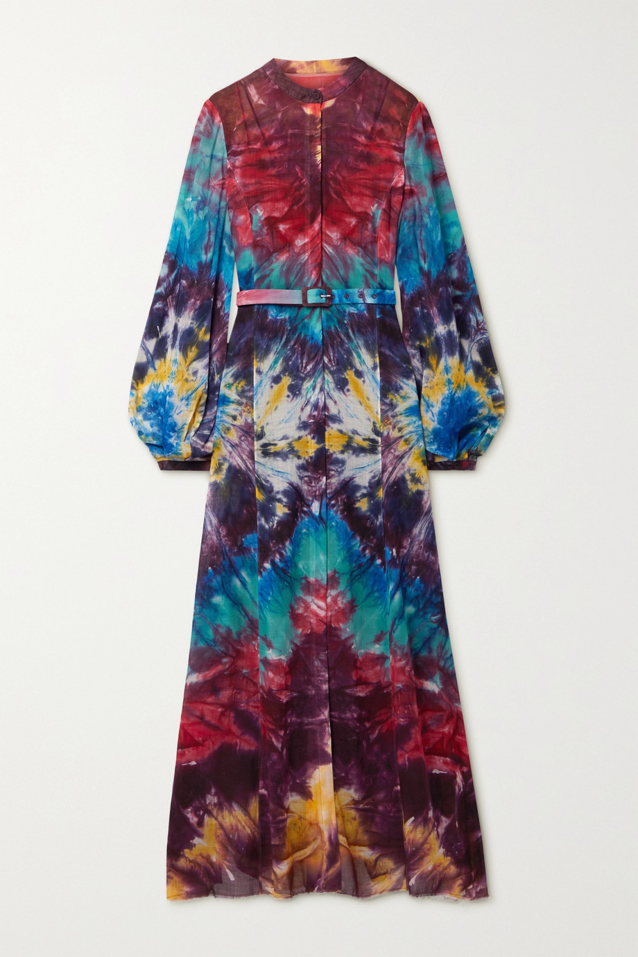 Gabriela Hearst Massey tie-dyed cashmere maxi shirt dress