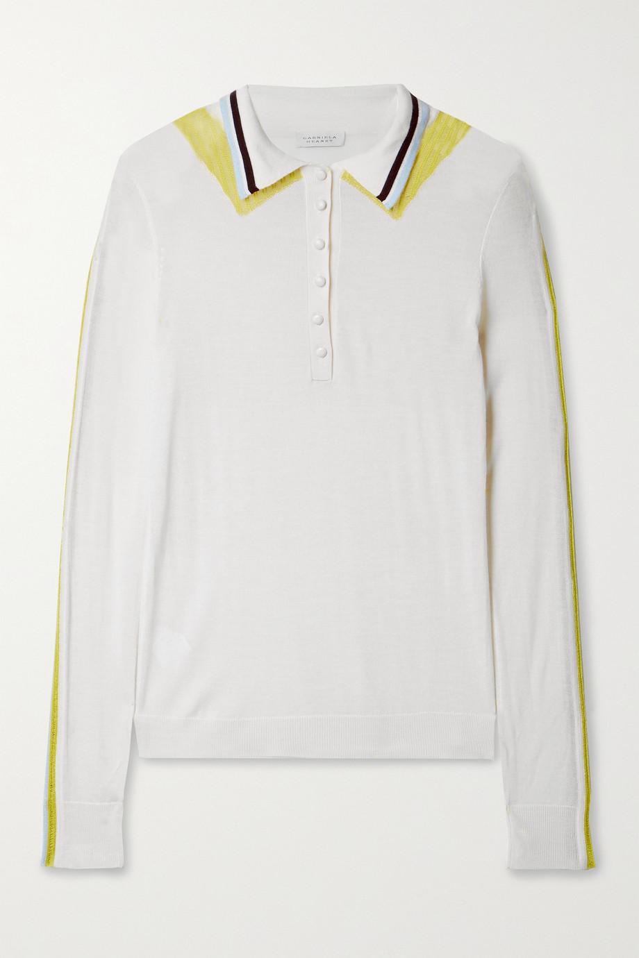 Gabriela Hearst Manuel striped cashmere and silk-blend sweater