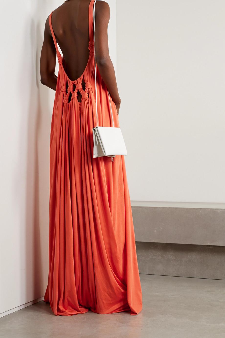 Gabriela Hearst Ophelia open-back knotted silk-jersey maxi dress