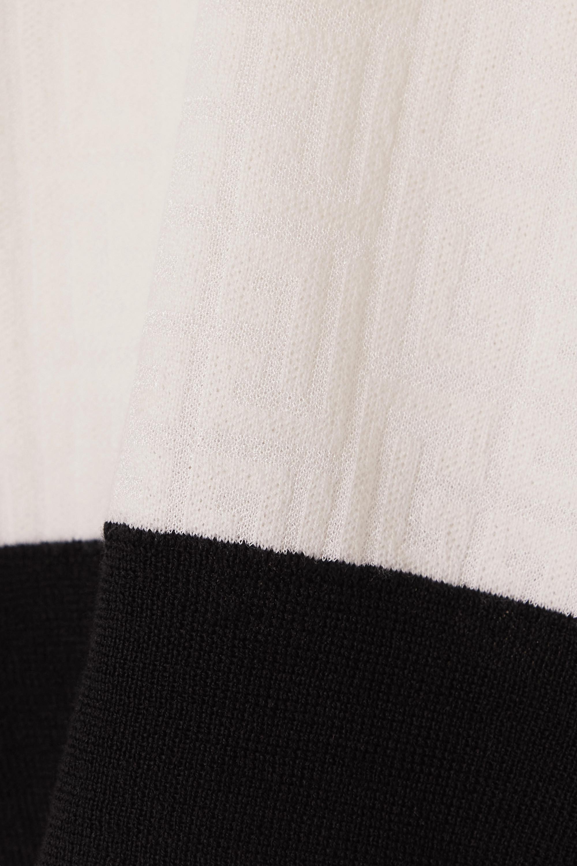 Balmain Haut raccourci en mailles jacquard de laine mélangée bicolore