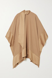 Taller Marmo Palm Beach tie-detailed satin-trimmed silk-blend crepe kaftan