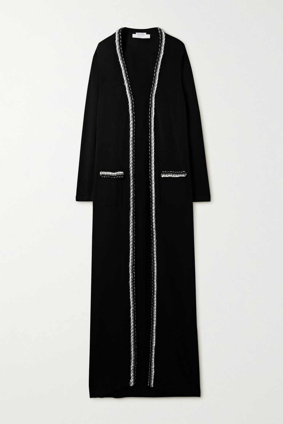 Oscar de la Renta Braided wool-blend cardigan