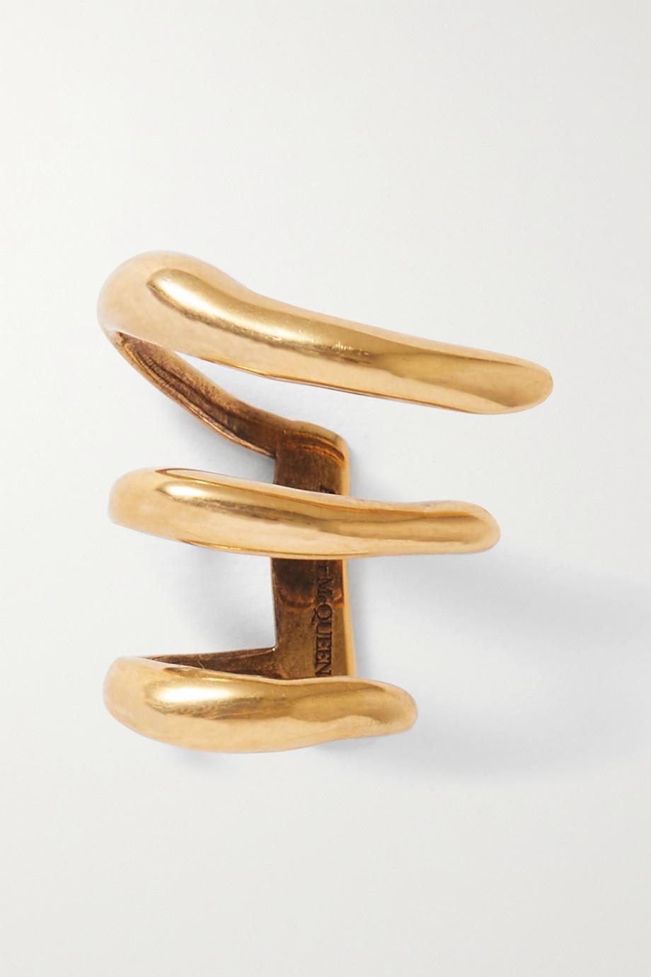 Alexander McQueen Goldfarbenes Ear Cuff