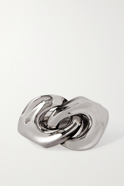 Alexander McQueen Silberfarbener Armreif