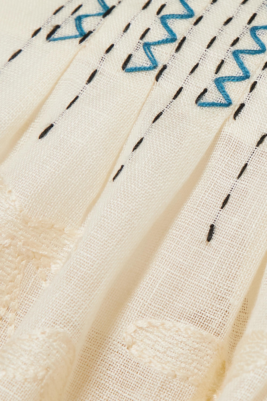 Vita Kin Virginie embroidered linen midi dress