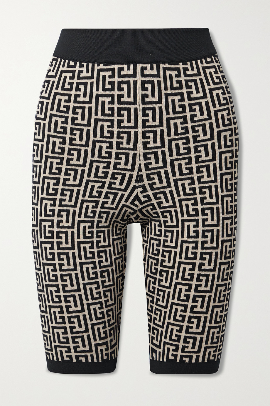 Balmain Jacquard-knit wool-blend shorts