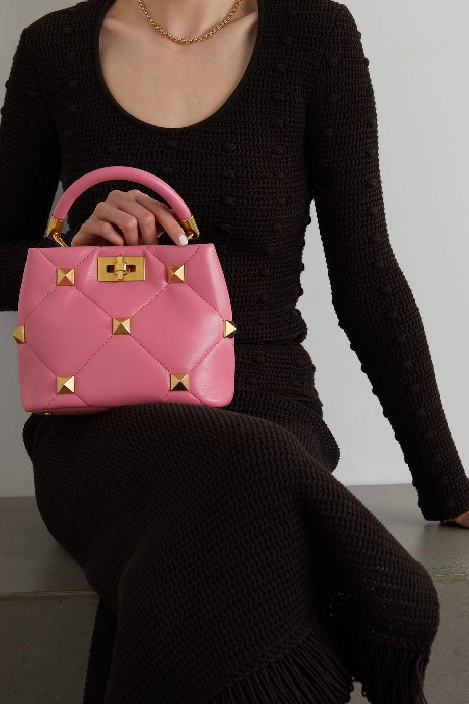 Valentino Valentino Garavani Roman Stud small quilted leather tote