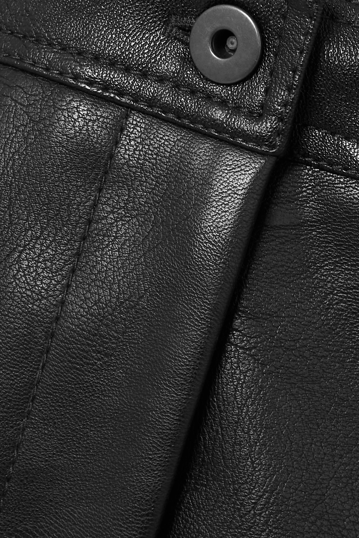 Stella McCartney + NET SUSTAIN Hailey vegetarian leather straight-leg pants
