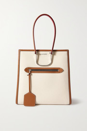 Alexander McQueen The Tall Story leather-trimmed canvas tote