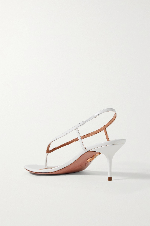 Aquazzura Divina 60 leather slingback sandals