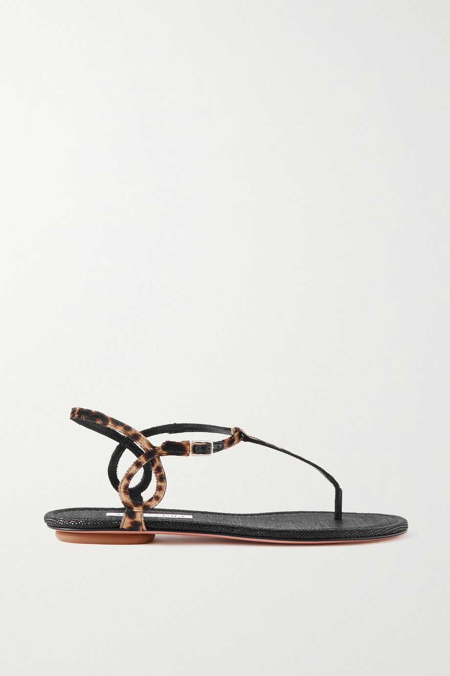 Aquazzura Almost Bare leopard-print calf hair sandals