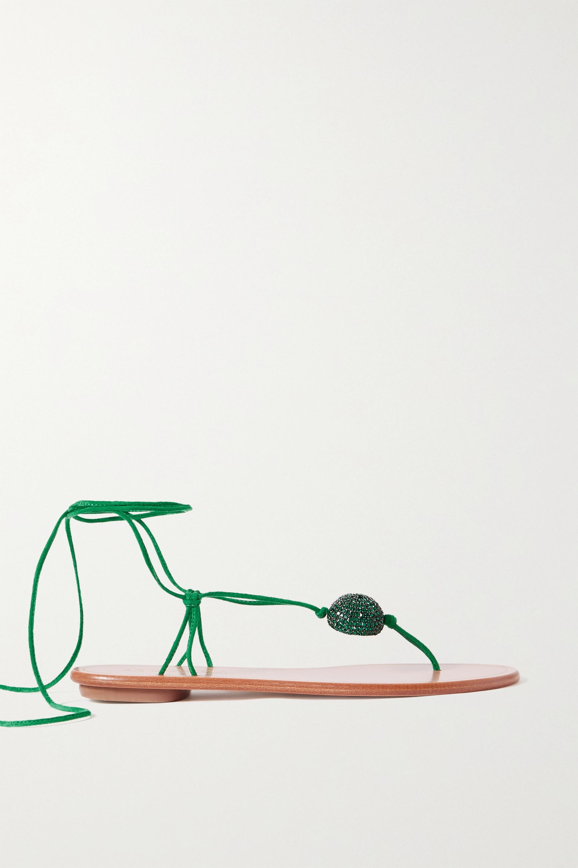 Aquazzura Jackie Sandalen aus Leder mit Kristallen