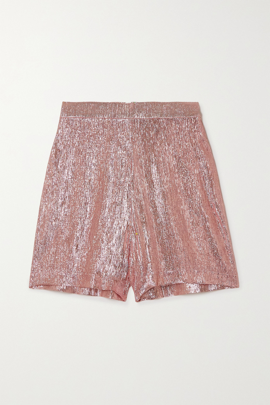 The Vampire's Wife Wool-blend lamé shorts