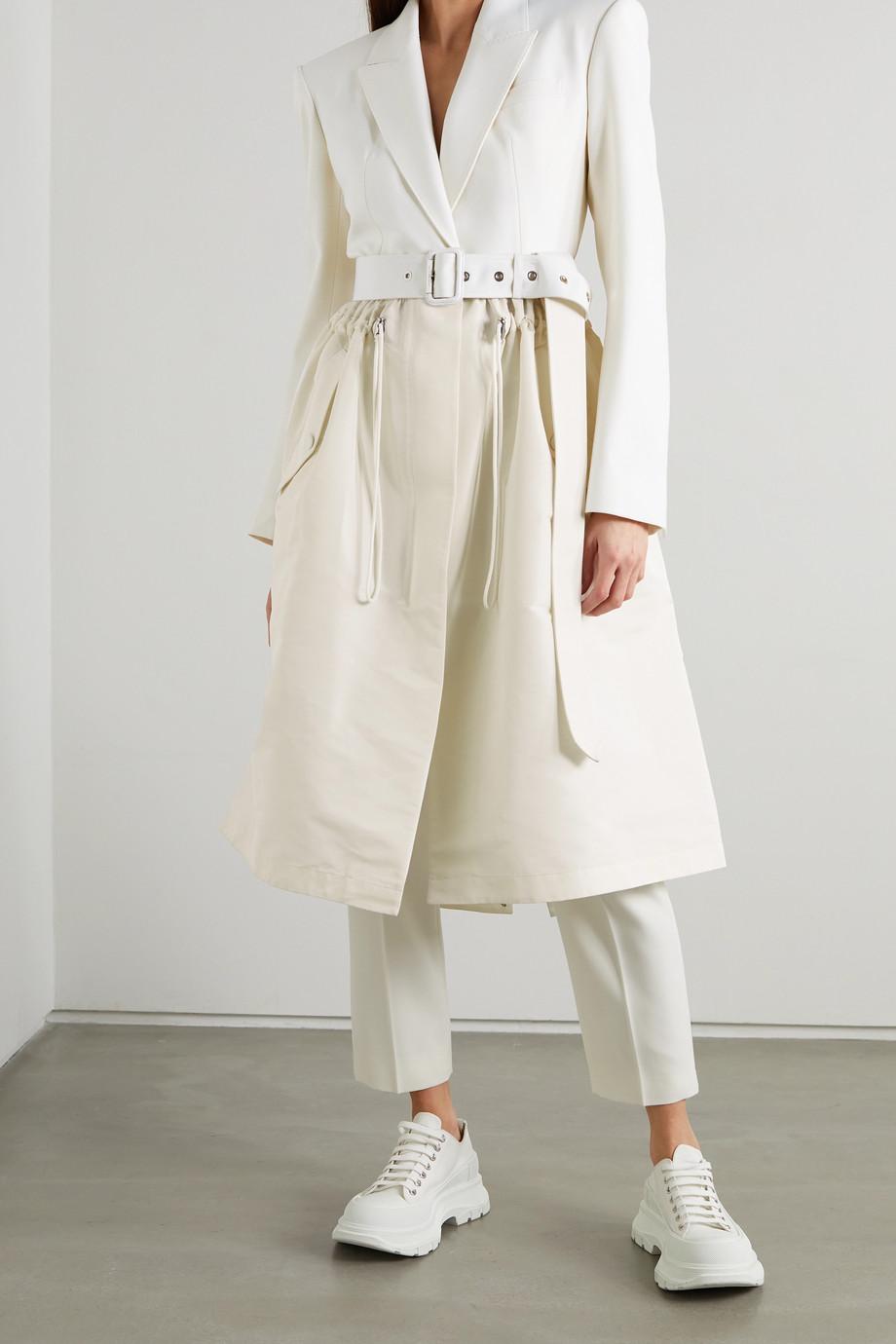 Alexander McQueen Paneled virgin wool and taffeta trench coat