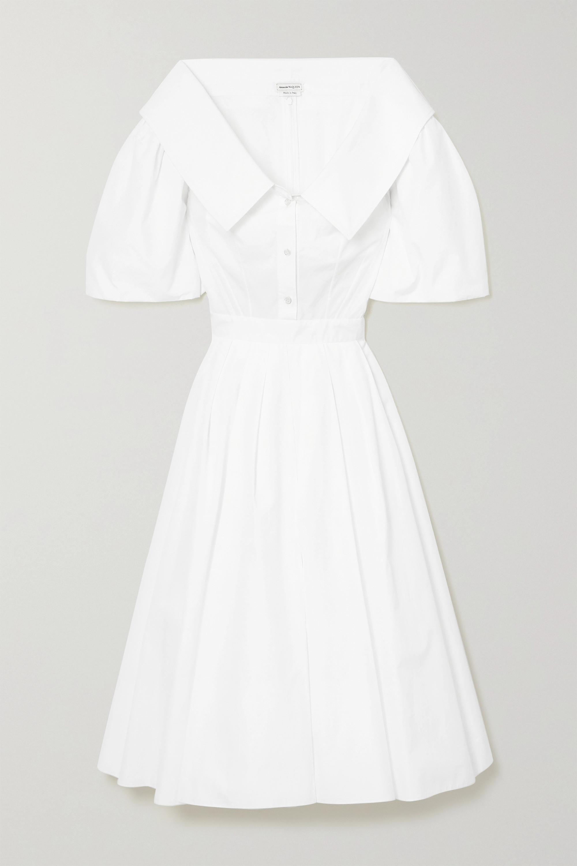 Alexander McQueen Hemdblusenkleid aus Baumwollpopeline