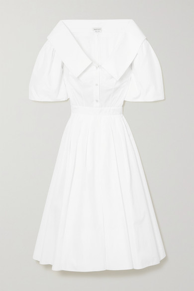 Alexander Mcqueen Cottons COTTON-POPLIN SHIRT DRESS