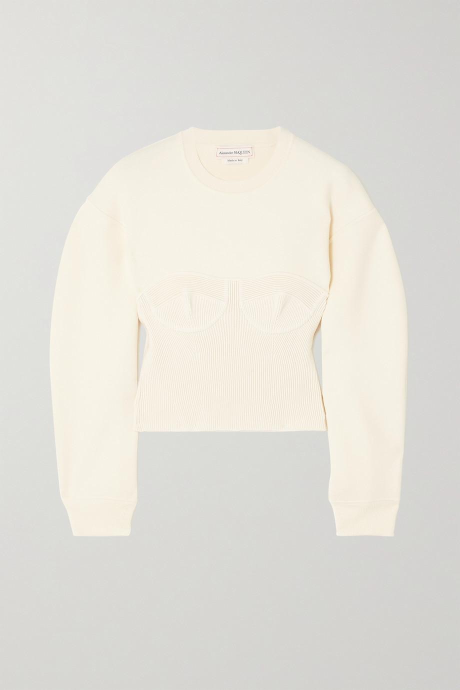 Alexander McQueen Paneled wool-blend sweater