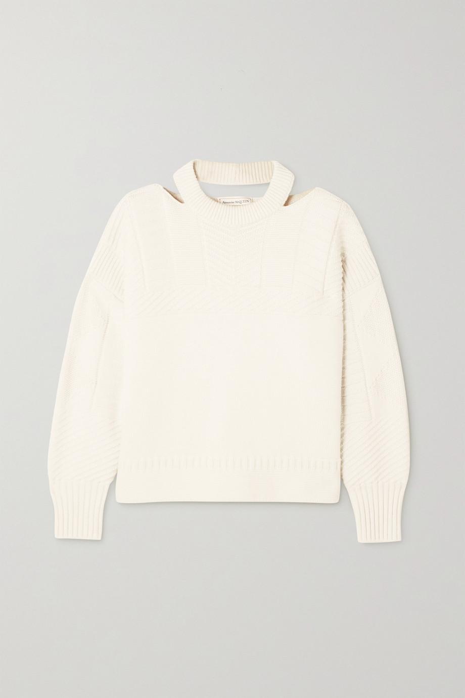 Alexander McQueen Cutout wool-blend sweater