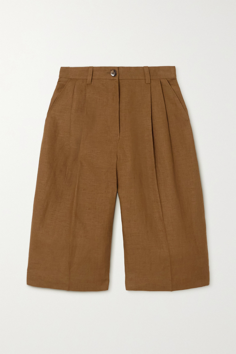 Bouguessa Meera pleated linen shorts
