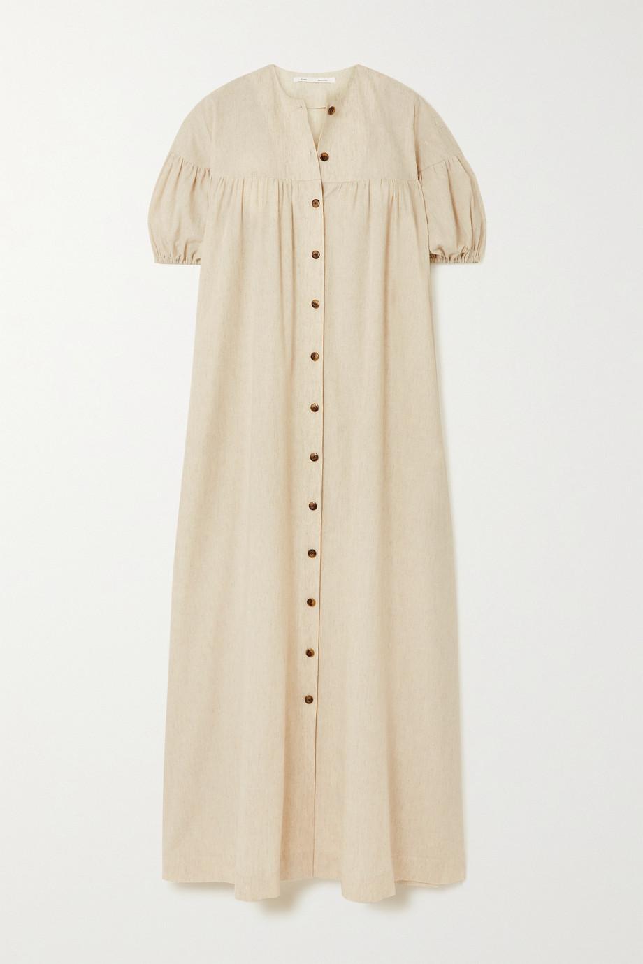 Bouguessa Robe longue en coton et lin mélangés Luann