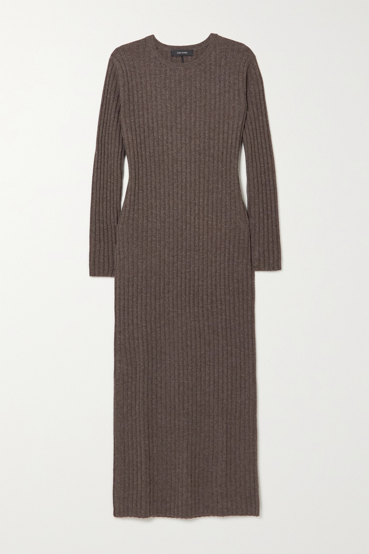 Lisa Yang Rita ribbed cashmere midi dress