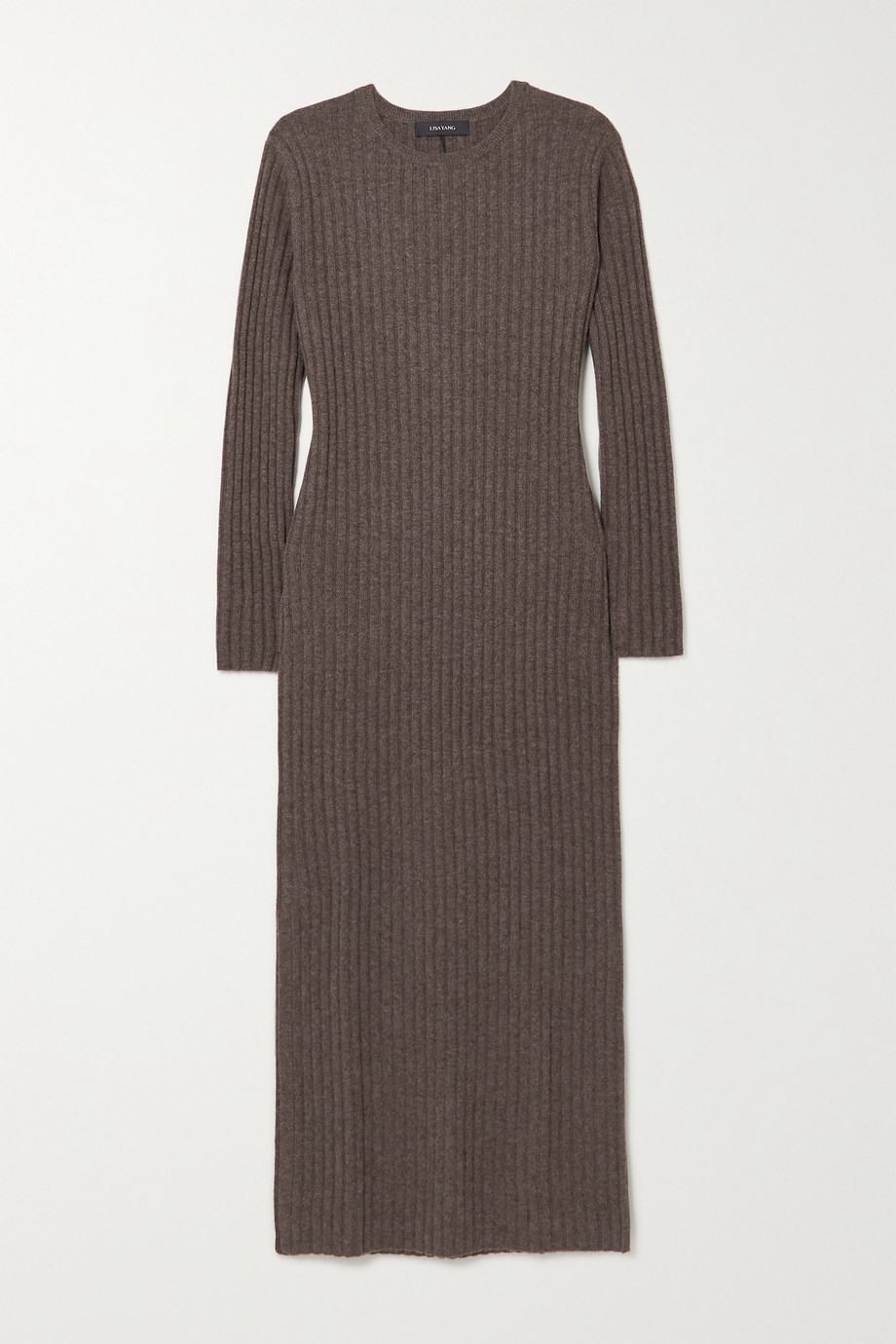 Lisa Yang Rita ribbed cashmere midi dress