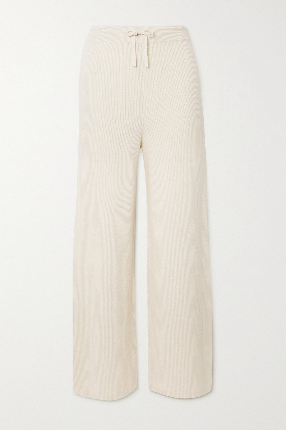 Lisa Yang Heather ribbed cashmere straight-leg pants