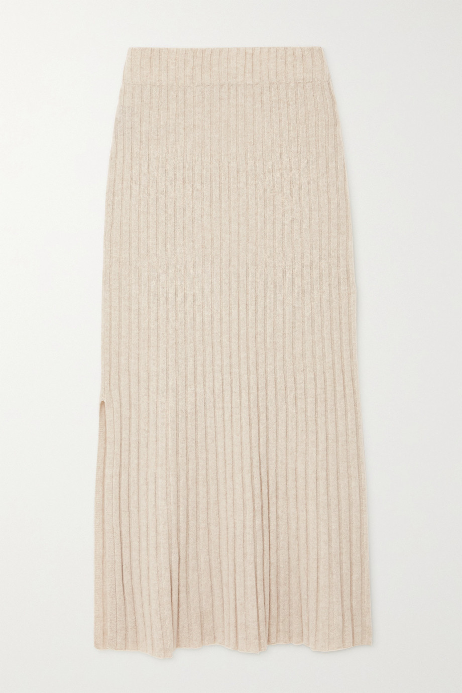 Lisa Yang Celine ribbed cashmere midi skirt