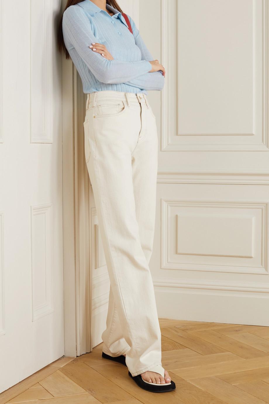 Lisa Yang Olympia ribbed cashmere polo shirt