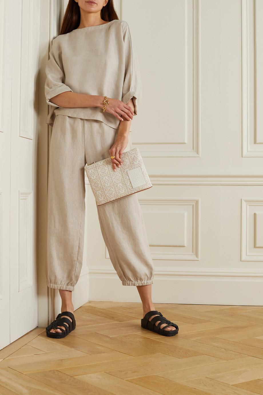 Suzie Kondi Safari linen tapered pants
