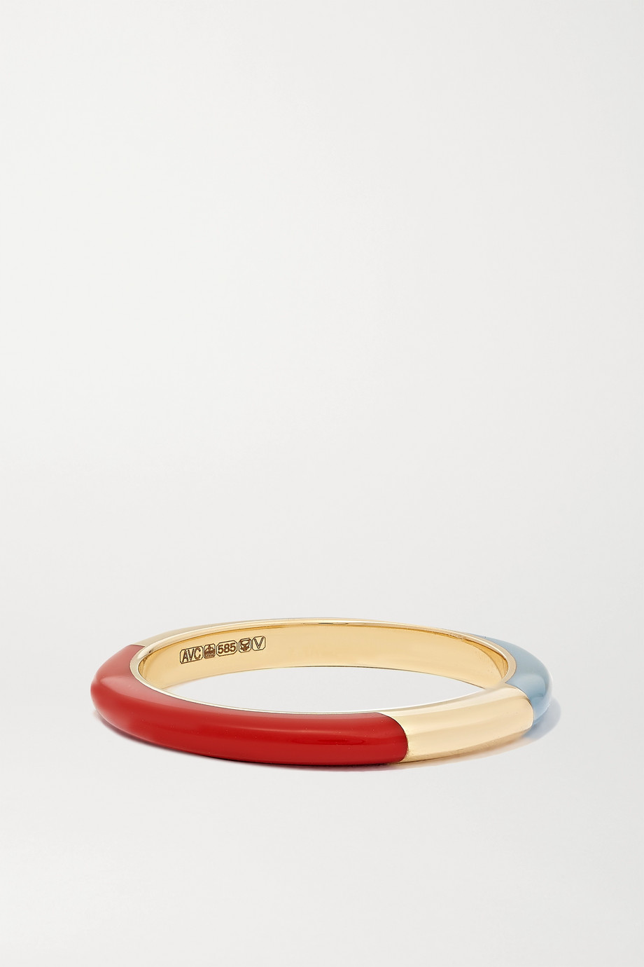 Alice Cicolini Candy 14-karat gold and enamel ring