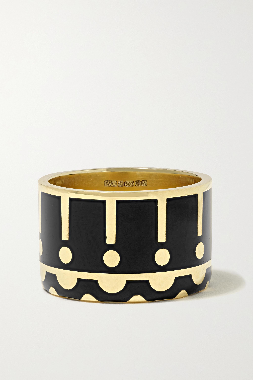 Alice Cicolini - Memphis Samarkand 14-karat gold and enamel ring